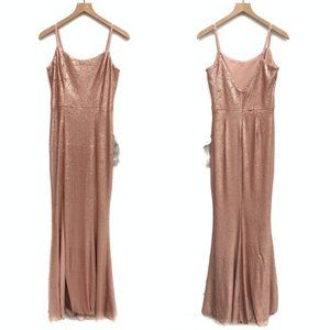 Dress the Population Pink Sequin Gown - Size M